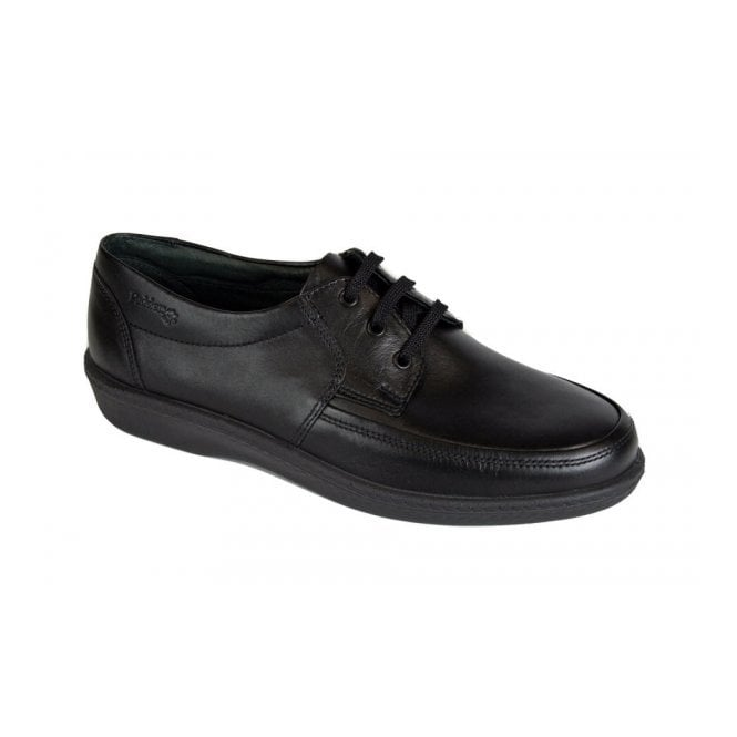 Padders Dash Black Leather Lace Shoe