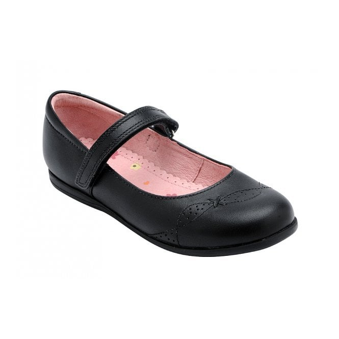 Start-rite Odette Black Leather Girl's Shoe