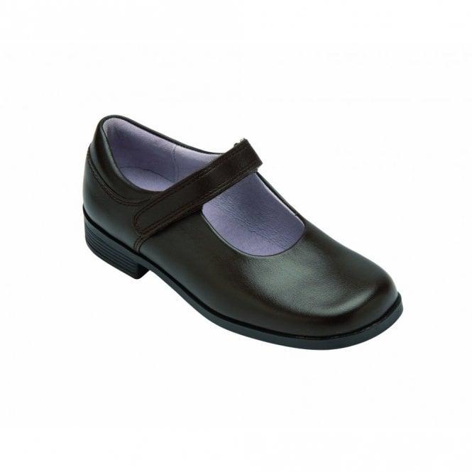Start-rite Samba Brown Leather Girl's Shoe