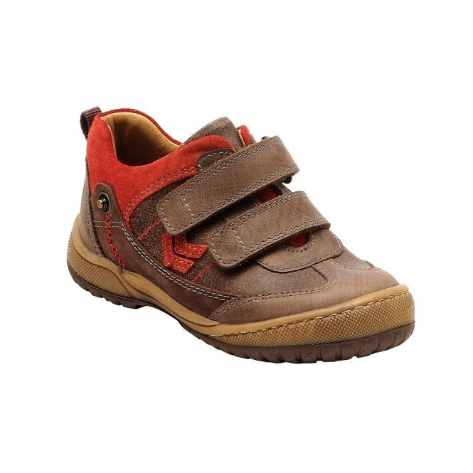 Start-rite Trail Brown Leather Boys Shoe