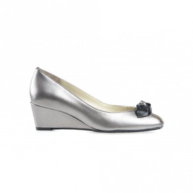 Van Dal Manila Metal Leather Wedge Shoe