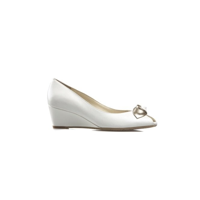 Van Dal Manila White Leather Wedge Shoe