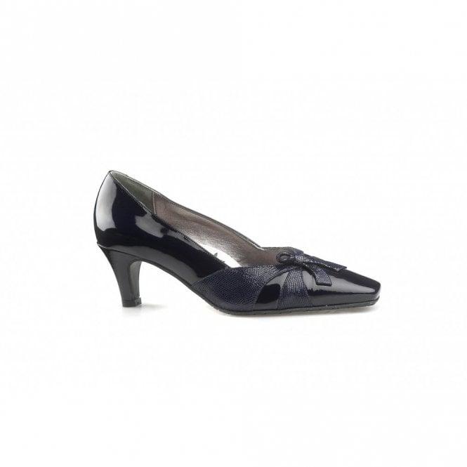 Van Dal Nicolet Navy Patent Court Shoe