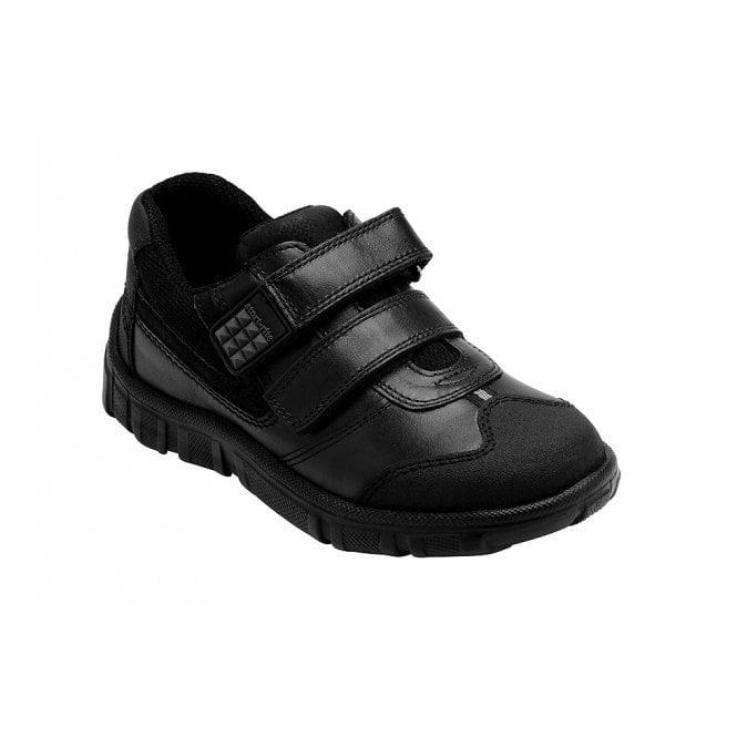 Start-rite Hover Black Leather Boys Shoe