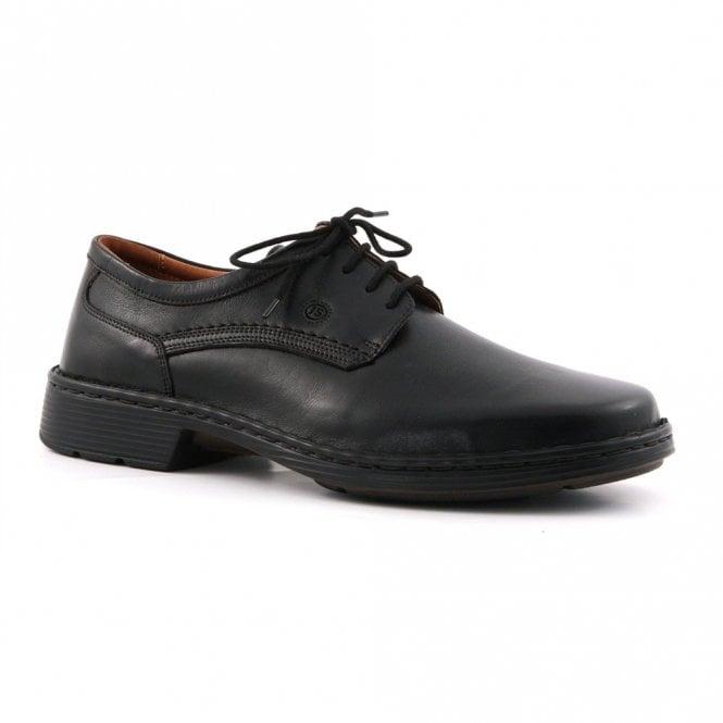 Josef Seibel Talcott Black Leather Lace Shoe