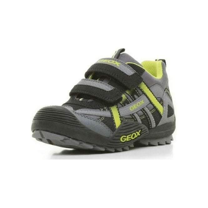 Geox J Savage E Black / Lime Boys Shoe