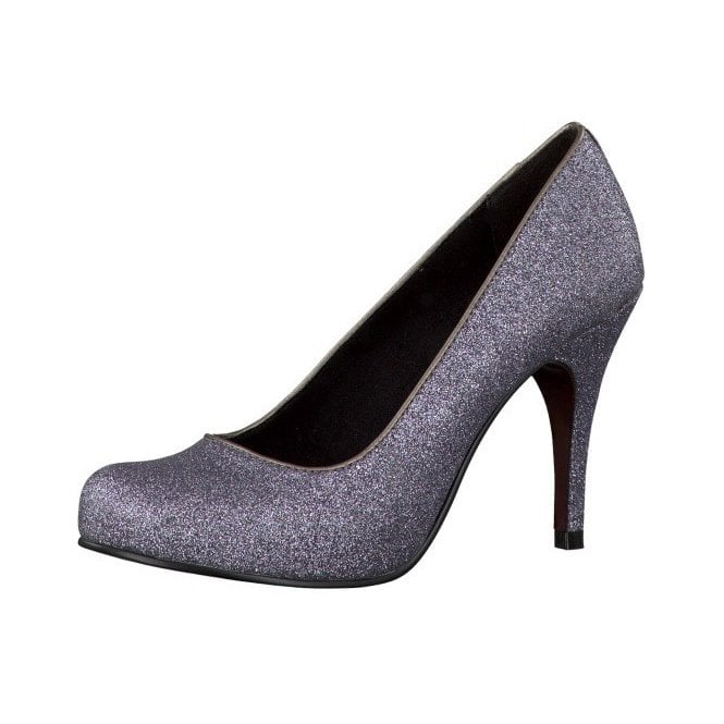 Tamaris 22418-29 Silver Sparkle Shoe