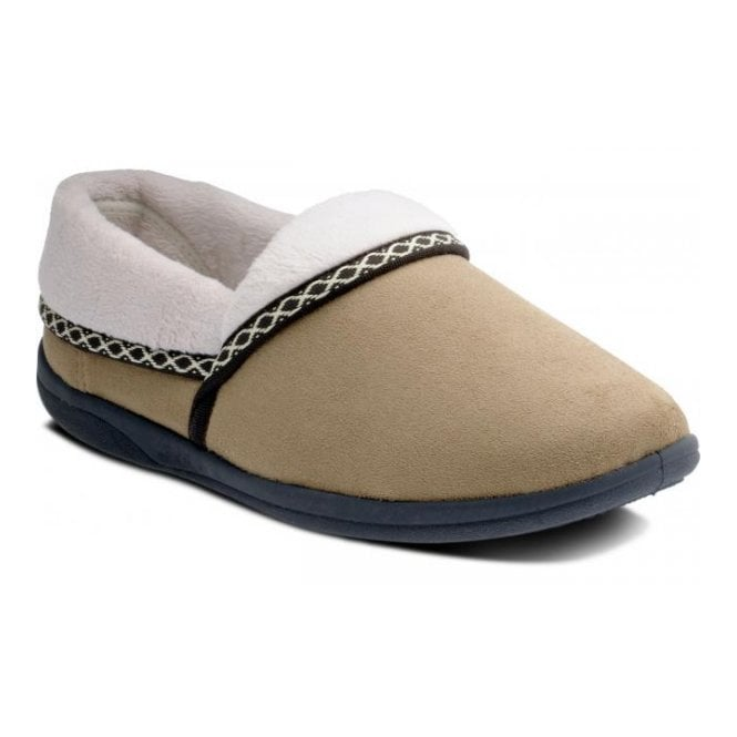 Padders Mellow Camel Micro Suede Slipper