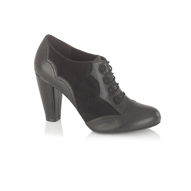 Lotus Cicely Black Leather / Suede Trouser Shoe