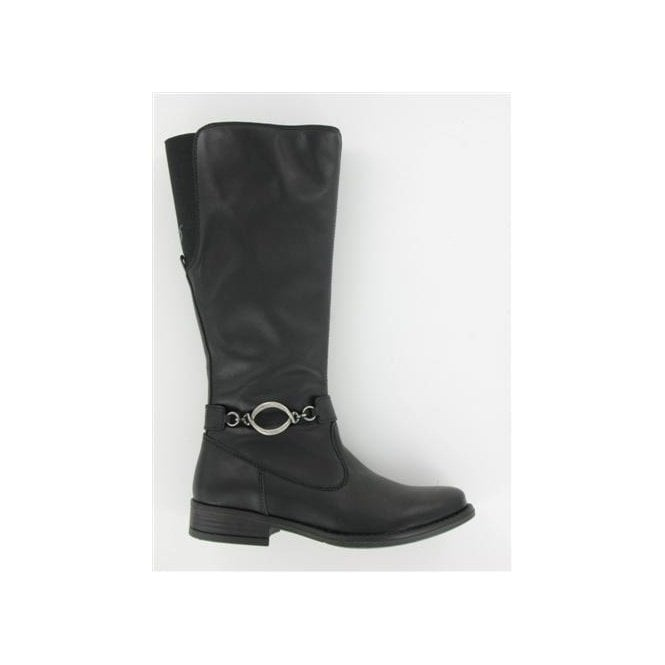 Primigi Stefania Black Leather Girl's Boots