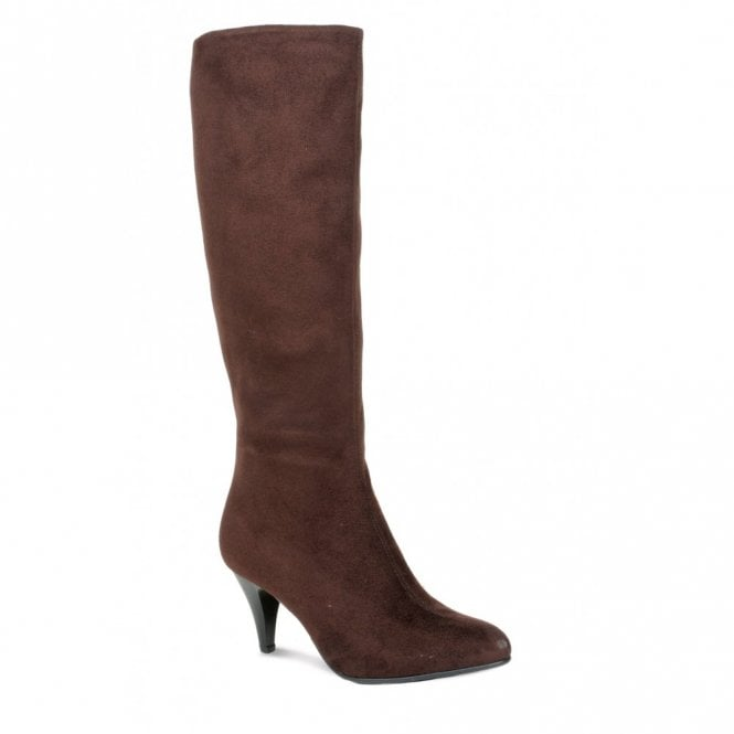 Lunar GLC231 Brown Stretch Material Ladies Boot