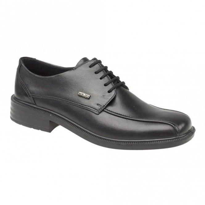 Cotswold Stonehouse Black Leather Waterproof Lace Shoe