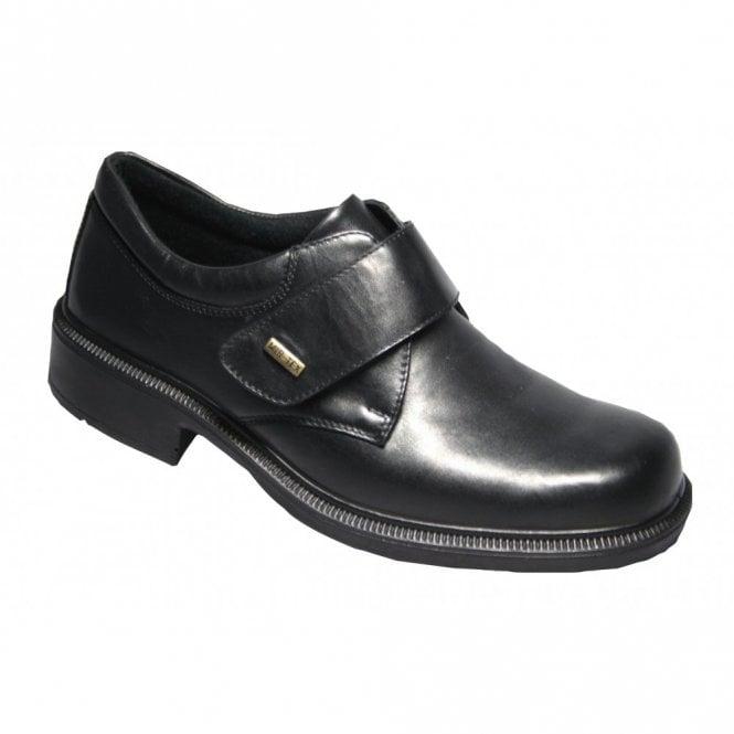 Cotswold Cleeve Black Leather Velcro Waterproof Shoe