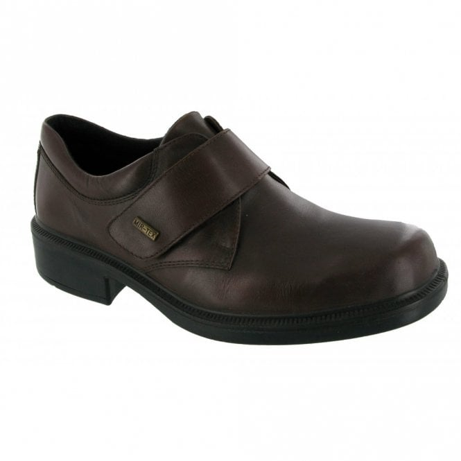 Cotswold Cleeve Brown Leather Velcro Waterproof Shoe