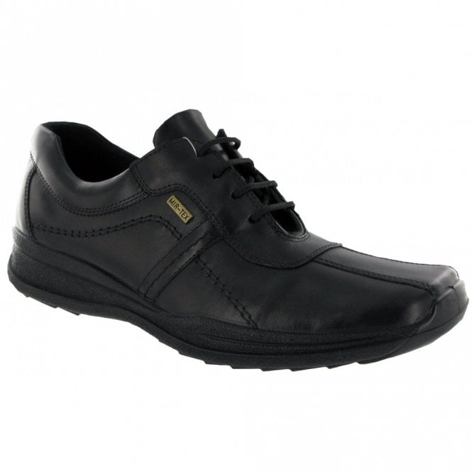 Cotswold Cam Black Leather Waterproof Lace Shoe