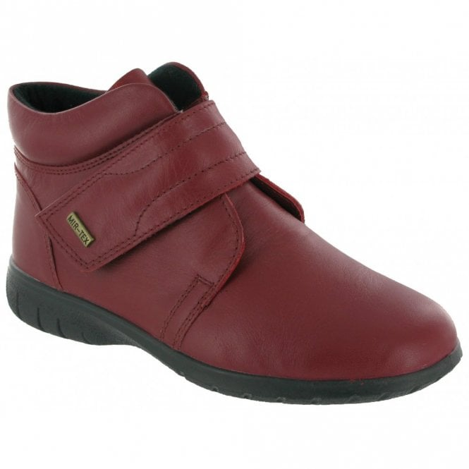 Chalford Red Leather Ladies Waterproof Ankle Boot