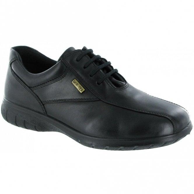 Cotswold Salford Black Leather Ladies Waterproof Shoe