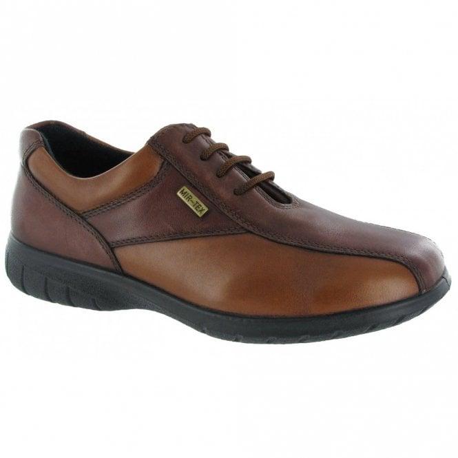 Cotswold Salford Brown / Tan Leather Ladies Waterproof Shoe