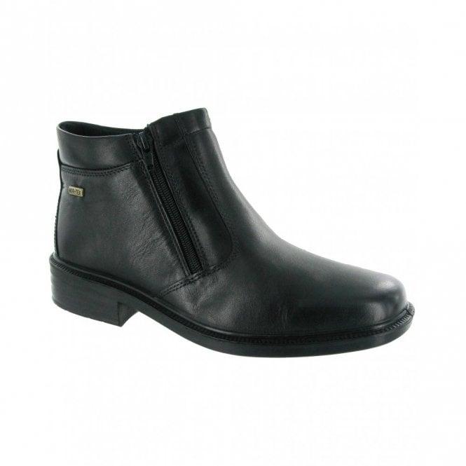 Cotswold Kelmscott Black Leather Waterproof Twin Zip Mens Boot