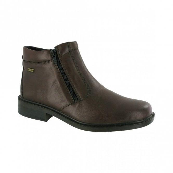 Cotswold Kelmscott Brown Leather Waterproof Twin Zip Boot