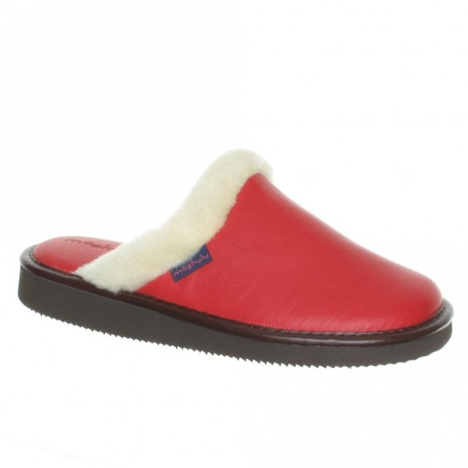 Moshulu Adele Red, Navy or Magenta Leather Slipper