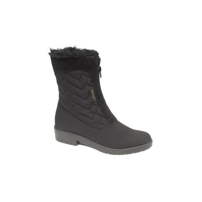 Mod Comfys Black Water Resistant Front Zip Boot