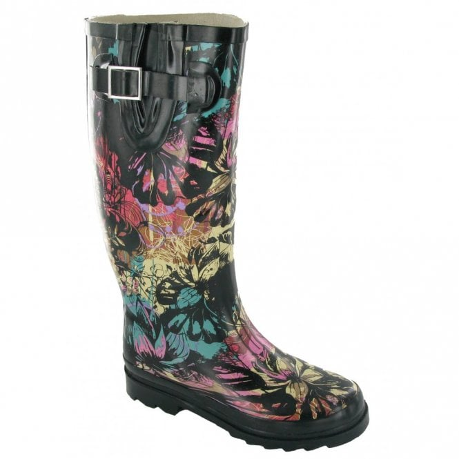Cotswold Multi-Coloured Floral Wellington Boot