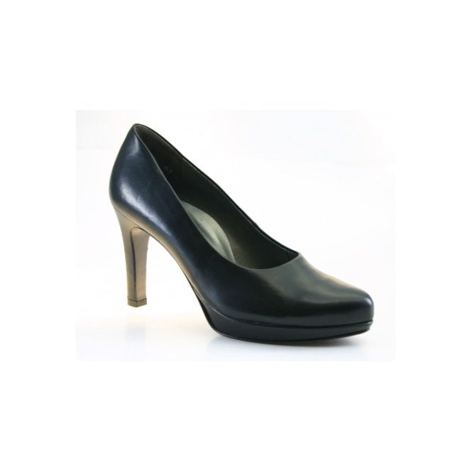 Paul Green 2834-918 Black Leather Court Shoe