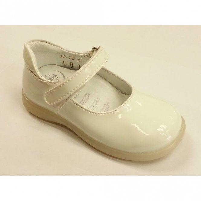 Primigi Andes White Patent Girl's Velcro Shoe