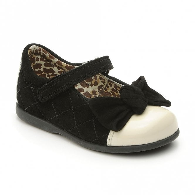 Start-rite by Myleene Klass - Belle Black Suede with Cream Toe Girls Shoe