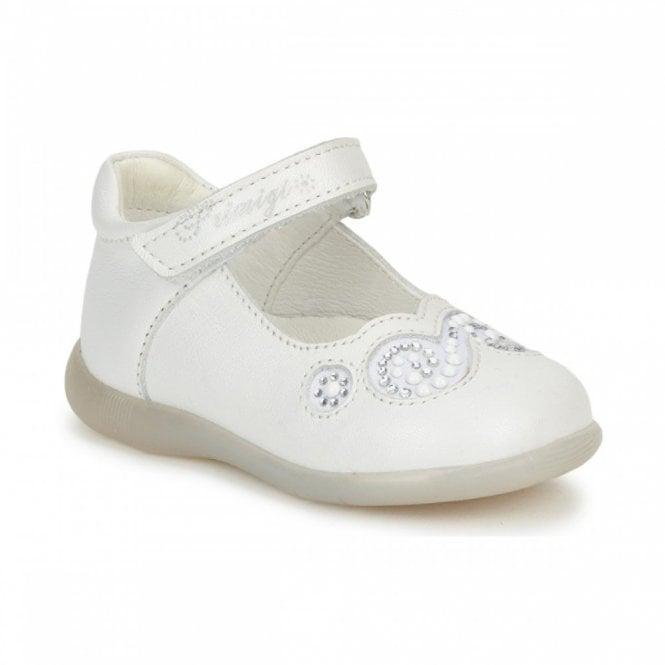 Primigi Emilia White Leather Girl's Velcro Shoe