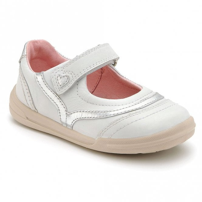 Start-rite Flexy-Soft Feather White Leather Girl's Shoe