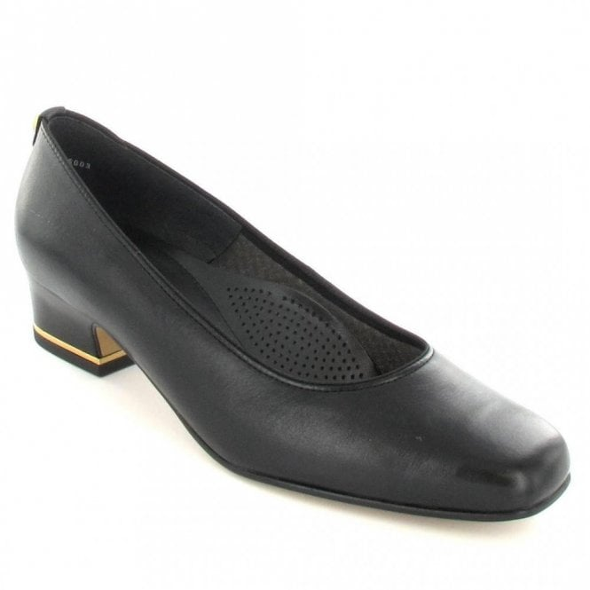 Ara 41859-01 Black Leather Court Shoe