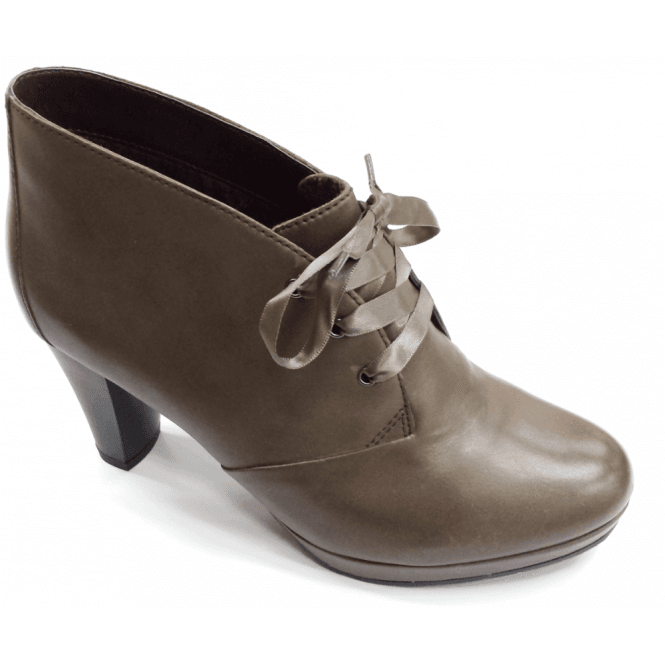Gerry Weber Alice 01 Taupe Leather Ankle Boot