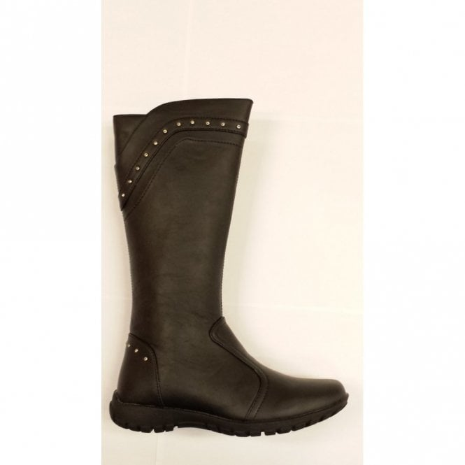 Primigi Keira Black Leather Girl's Boots