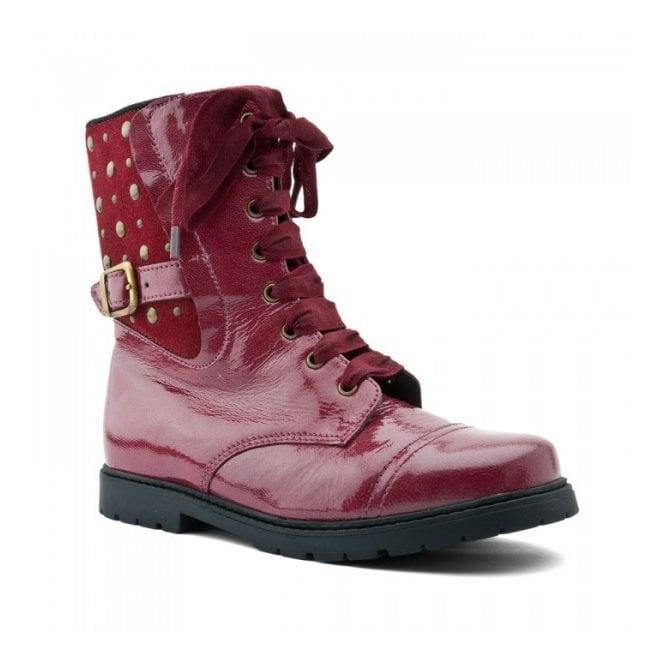 Start-rite Rock Star Dark Red Patent Girls Boot