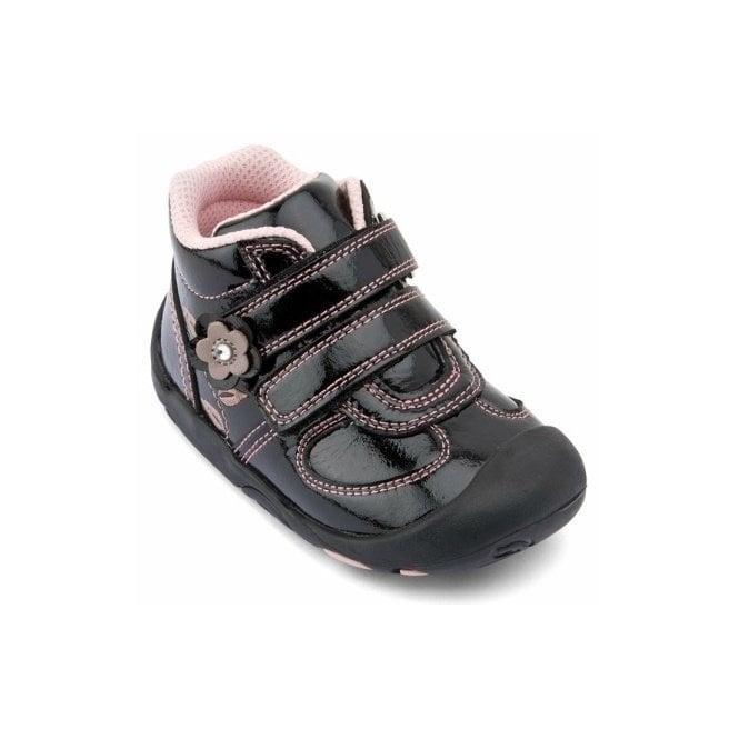 Start-rite Go Black Patent Girls Boot