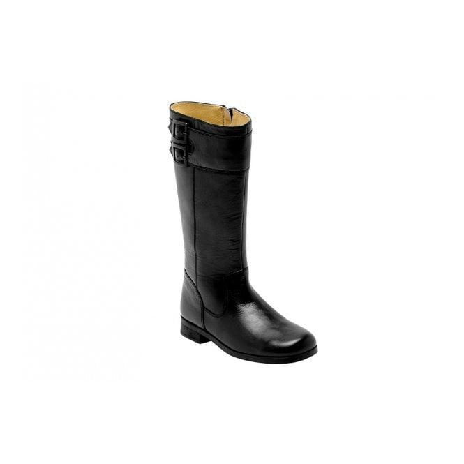Start-rite Turmoil Black Leather Girls Boot