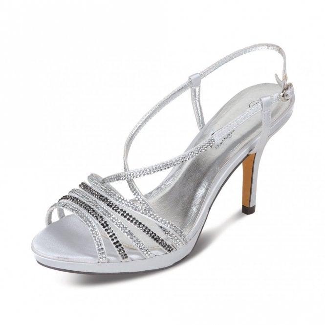 Lunar FLR221 Silver Sandal with Diamante's