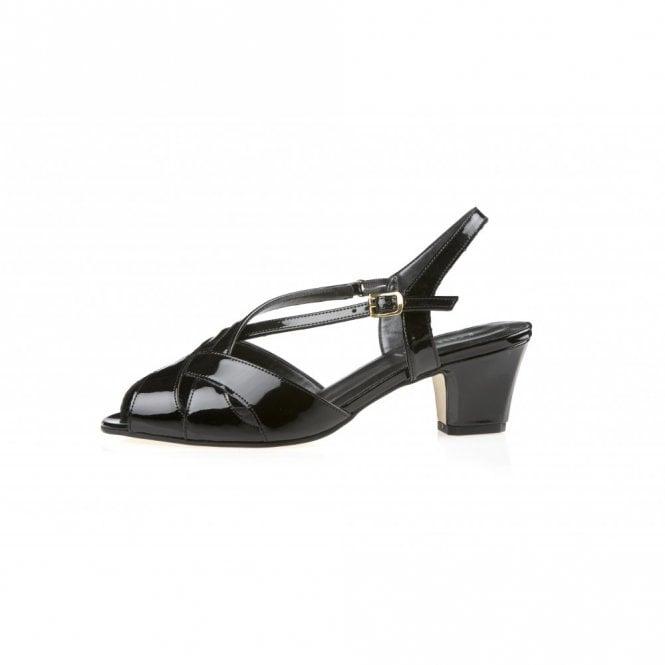 Libby II Black Patent Sandal