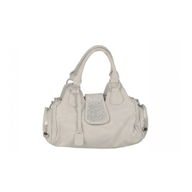 Rieker H1112-40 Grey Handbag with Glitzy Trim