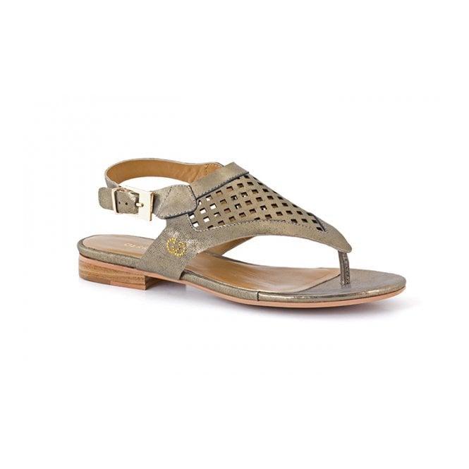 Gerry Weber Jana 02 Gold Leather Toe Post Sandal