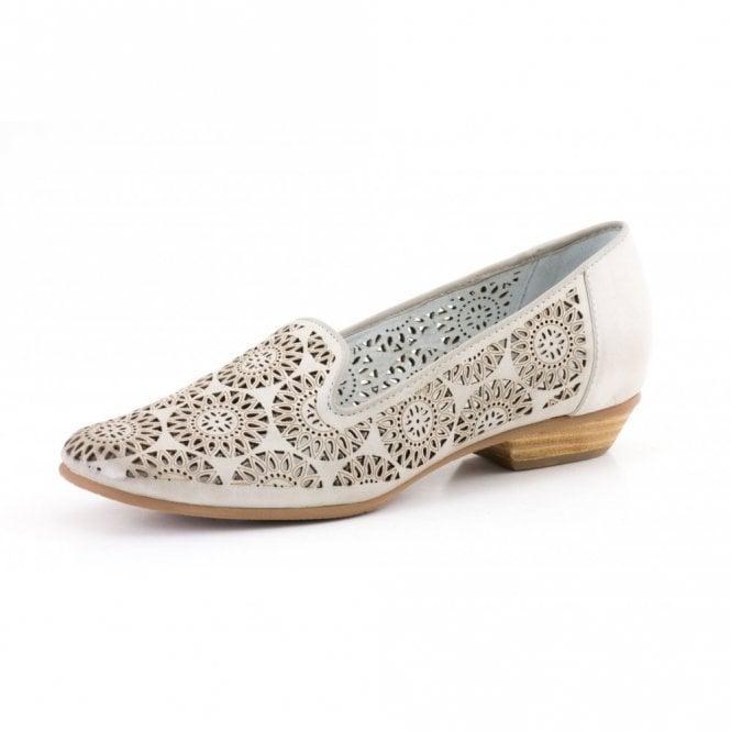 Gerry Weber Doris 07 Off White Leather Shoe