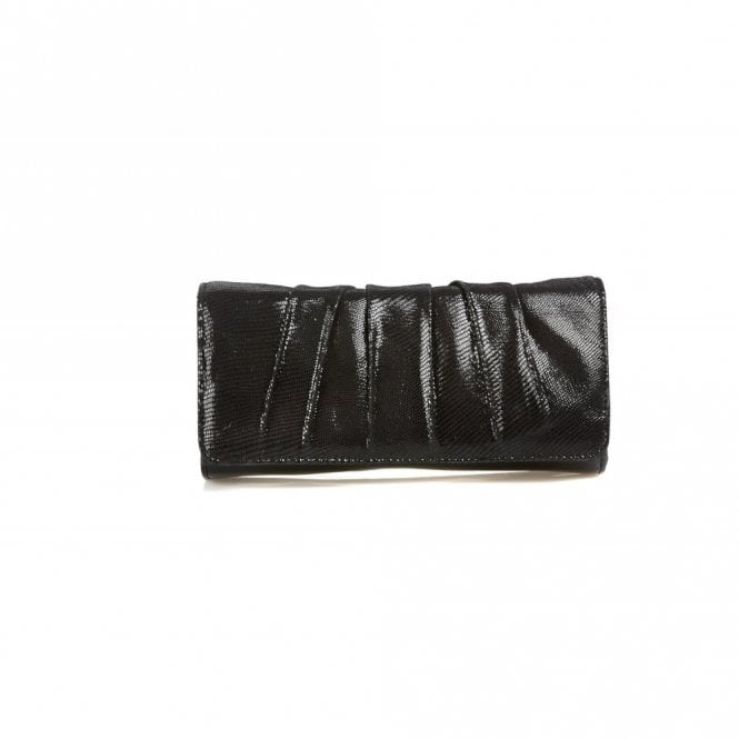 Van Dal Aloe Black Lizard Print Handbag