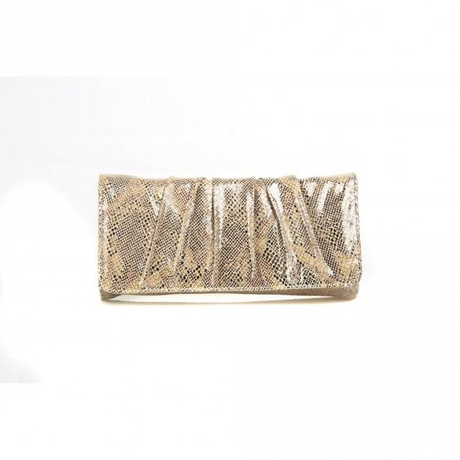 Van Dal Aloe Metallic Snake Print Handbag