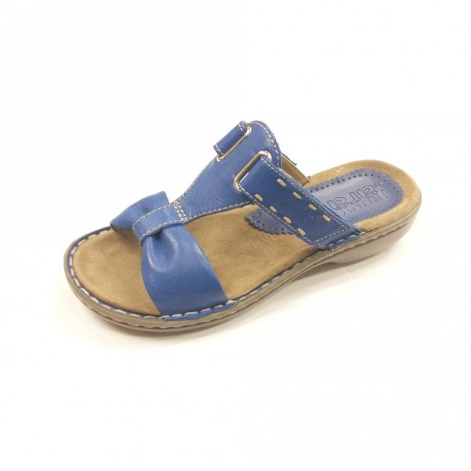 Jenny 57221-06 Blue Softbrush Electric Velcro Mule Sandal