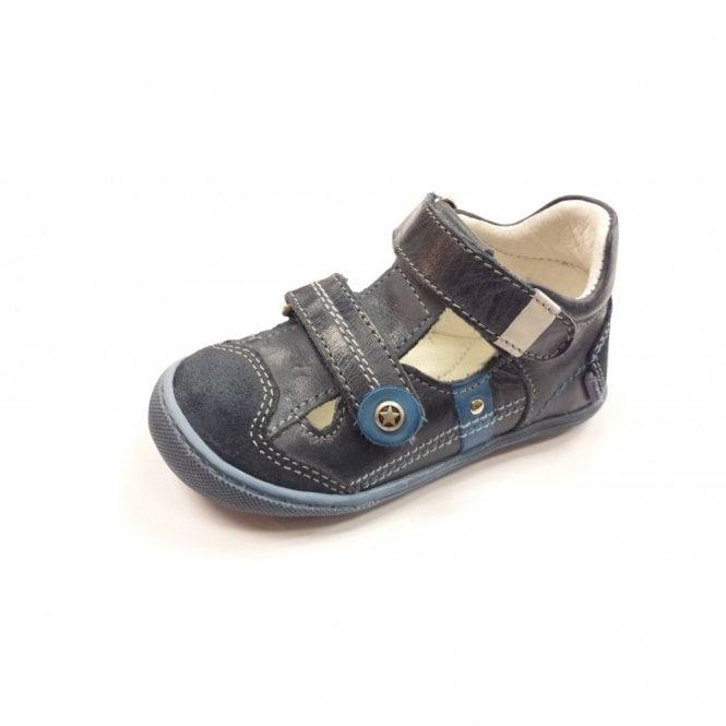 Primigi Frankie E Navy / Denim Leather Boy's Velcro Shoe