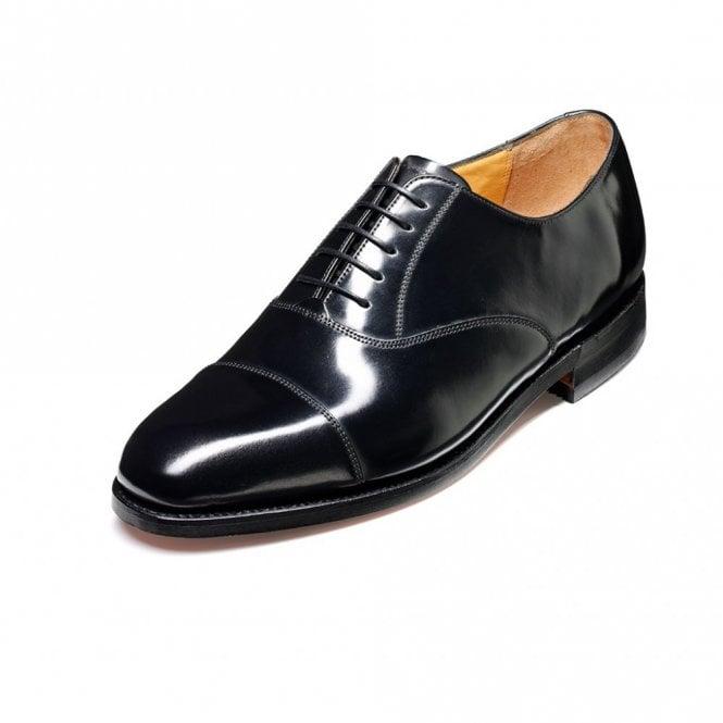 Barker Arnold Black Hi-Shine Leather Lace Up Shoe