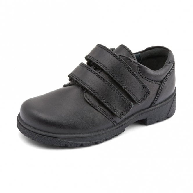 Start-rite Rotate Black Leather Velcro Boys Shoe