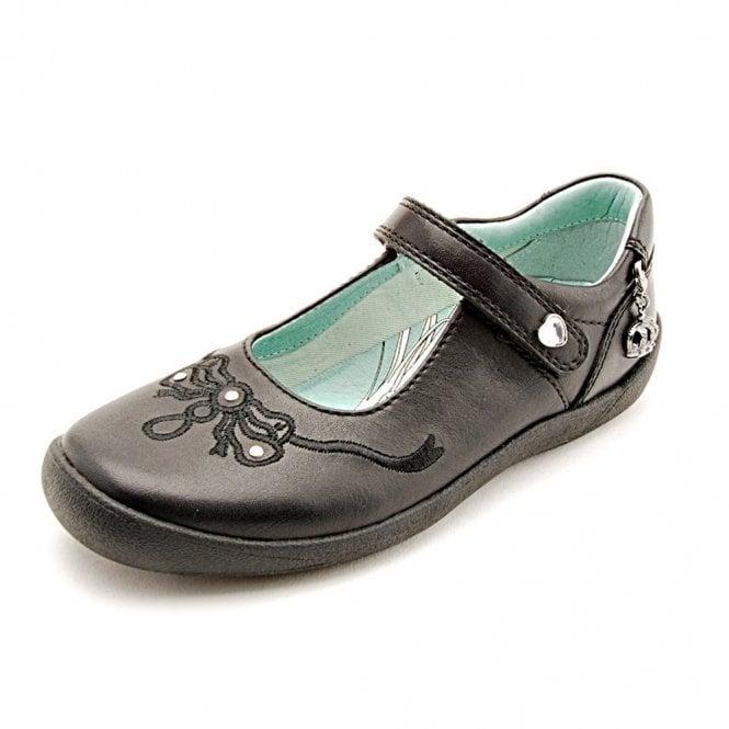 Start-rite Princess Serena Black Leather Girl's Shoe